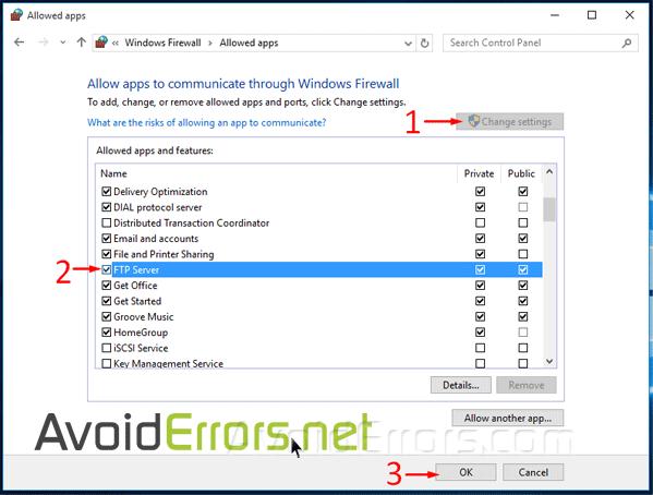 firewall settings windows 10