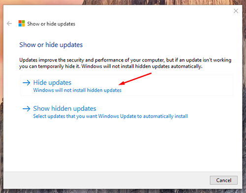 block unwanted Windows Updates 3