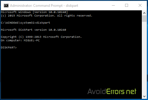 how to create partition in windows 8 using command prompt