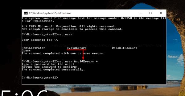 Reset Windows 10 Password - 2