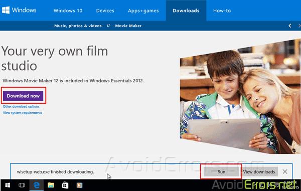 Windows Movie Maker Win 10