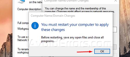 Change PC Name on Windows 10 4