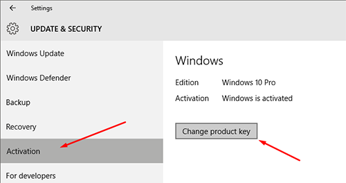 How To Activate Windows 10 With product key 3