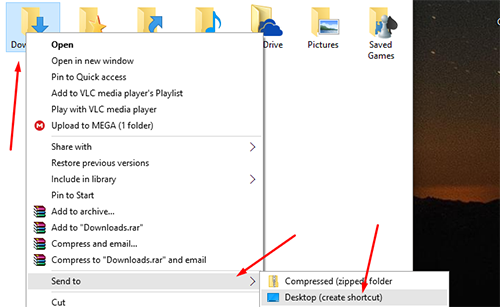 pin downloads folder to taskbar 1