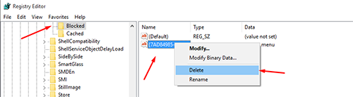 remove cast to device from right-click contex menu 8