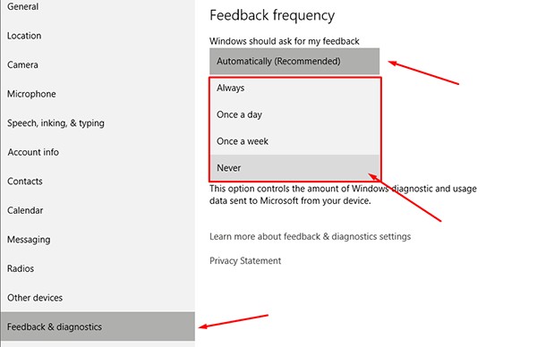 How to Stop Windows 10 From Asking You For Feedback 3