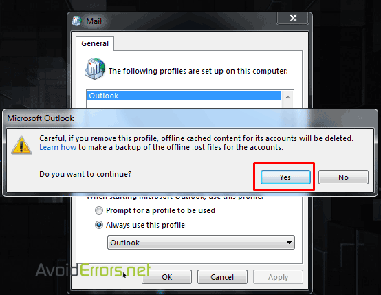 Outlook-cannot-logon-verify-you-are-connected-to-the-network-4