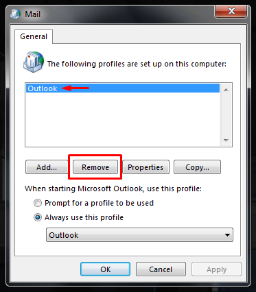 Outlook-cannot-logon-verify-you-are-connected-to-the-network-6