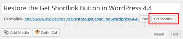 Restore-the-Get-Shortlink-Button-in-WordPress
