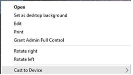 Remove Cast To Device From Context Menu – Windows 10