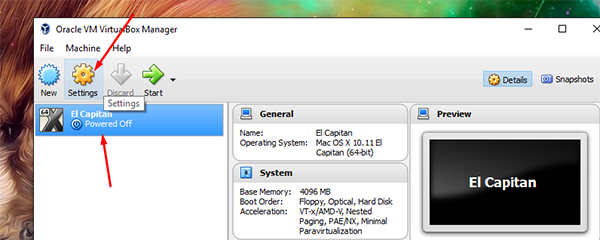 El Capitan on Virtual Box 5