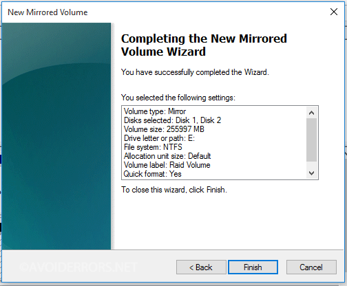 Mirrored-Array-in-Windows-10-11