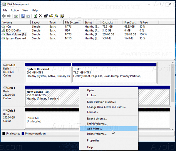 Mirrored-Array-in-Windows-10-8