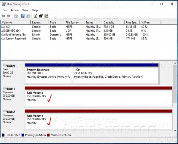 Mirrored-Array-in-Windows-10-9
