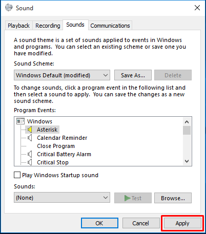 Windows 10 - Disable Annoying Notification Sounds_3