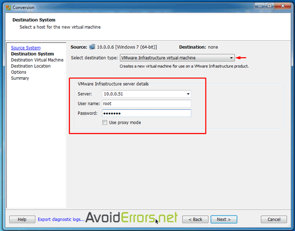 How to Migrate a Physical Workstation to ESXI Server
