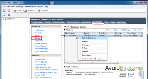How to Upload ISO Files to Datastore in vSphere ESXi 6