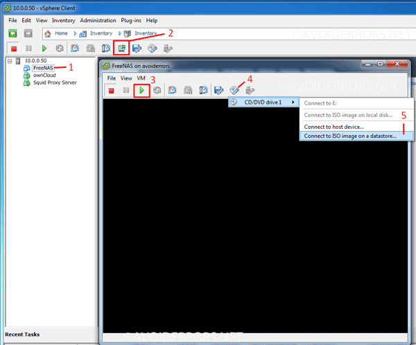 How to Install FreeNAS on Hypervisor ESXI - AvoidErrors