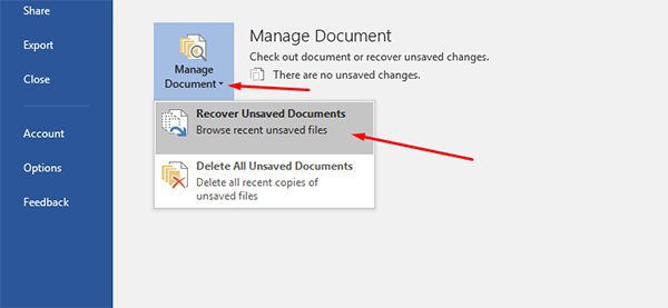 How to Recover an Unsaved Document on Microsoft Office 3