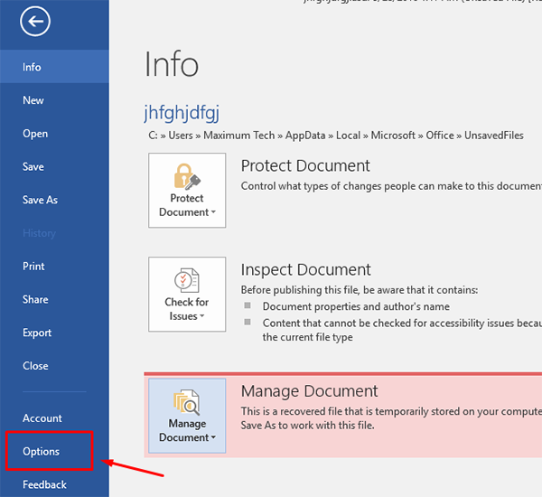 How to Recover an Unsaved Document on Microsoft Office 5