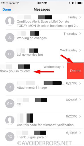 Delete Text Messages and iMessages in iOS 2