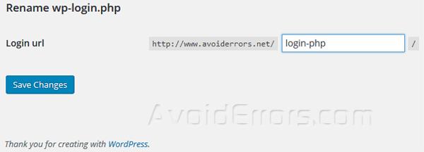 change-wordpress-login-url