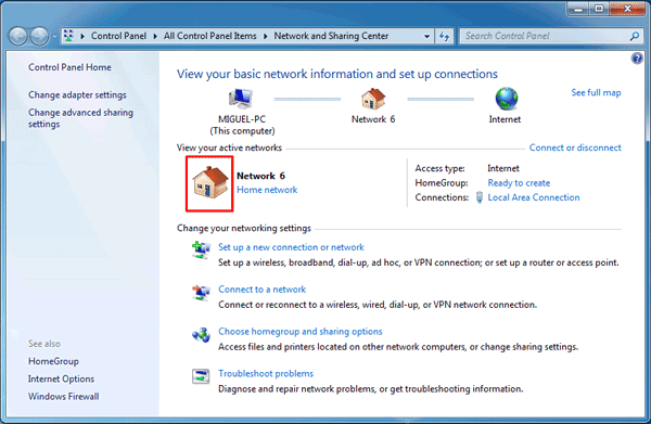 how to set network in windows 7