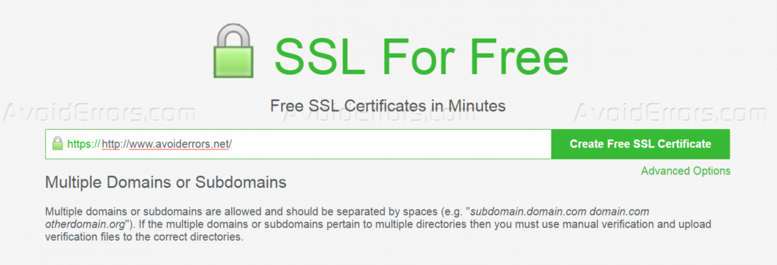 Get A Free Ssl Certificate For Your Domain Avoiderrors