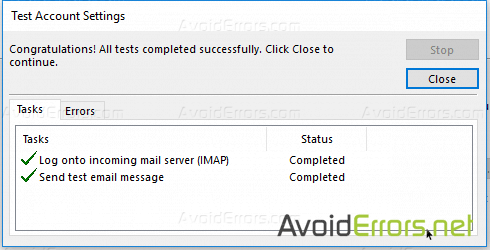 Add Your Yahoo Account to Outlook 2016 Using IMAP settings 3
