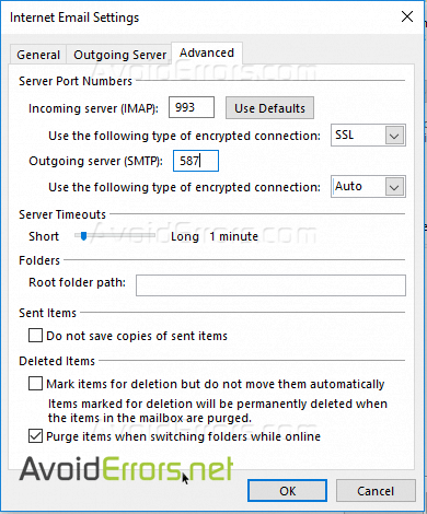 Add Your Yahoo Account to Outlook 2016 Using IMAP settings - AvoidErrors