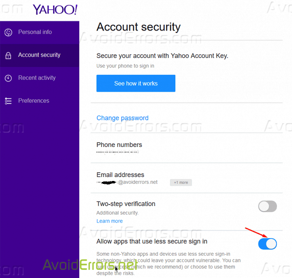 Add Your Yahoo Account to Outlook 2016 Using IMAP settings 8