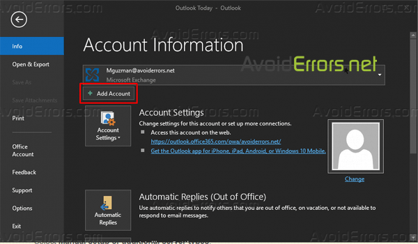 Add Your Yahoo Account to Outlook 2016 Using IMAP settings 9