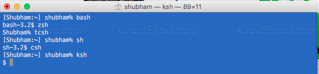 Difference Between Bash, sh and other Linux Shells - AvoidErrors
