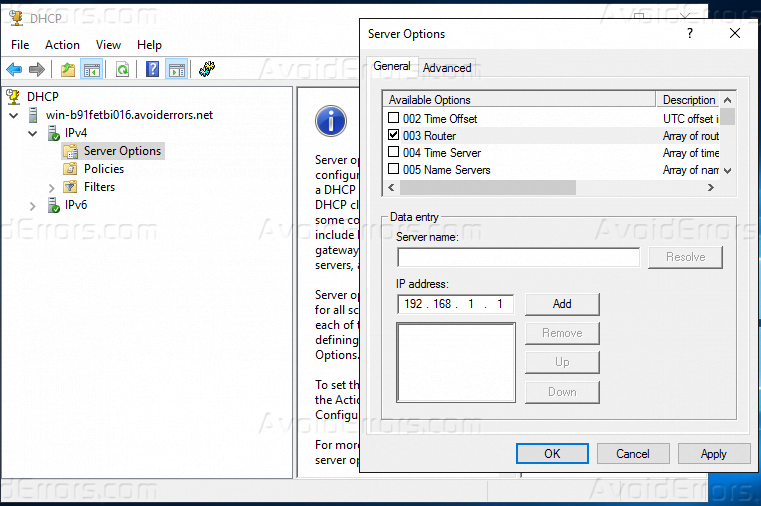 Dhcp Option 44