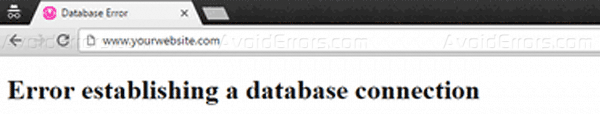 database error frontend 001