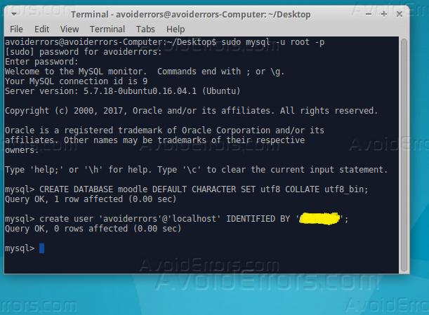 Change mysql user password ubuntu