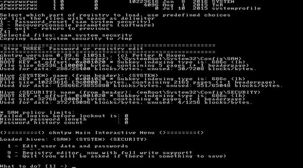 edit user data and password