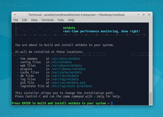 netdata install