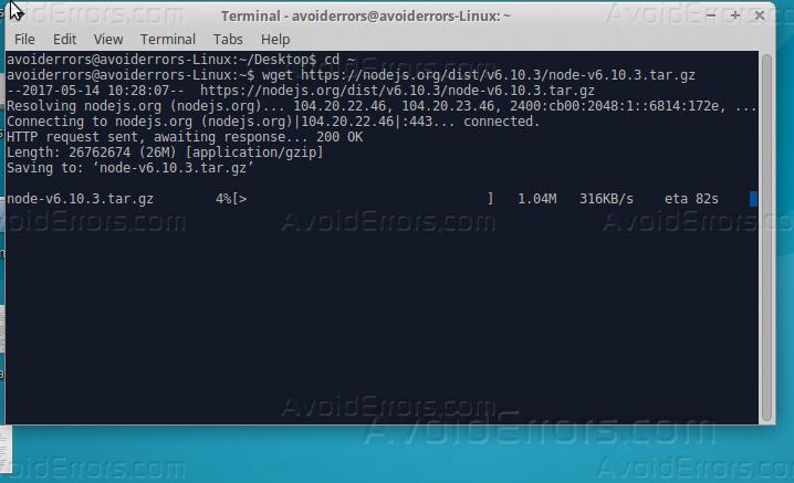 ubuntu install node express
