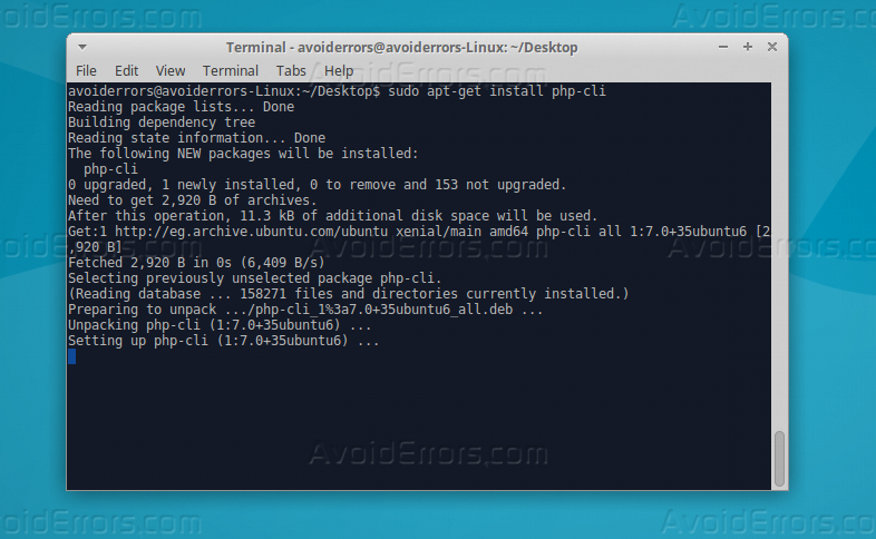 php cli install