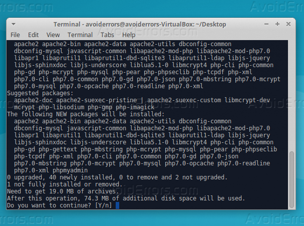 php install