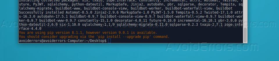 pip need update