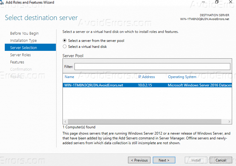 How to Install WebServer IIS role on Windows server 2016? AvoidErrors