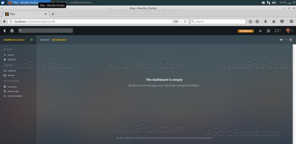 How To Install Plex Media Server on Ubuntu 16 04 - AvoidErrors