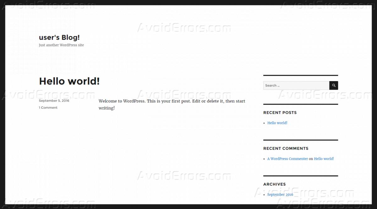 WordPress Website on Amazon Web Services