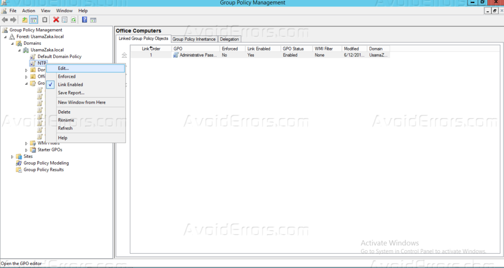 Synchronize Time on Domain Computers using Windows Server 2012