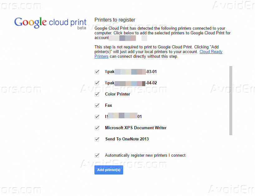 how to connect printer google chrome