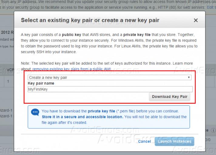 How to launch a Windows Virtual Machine on Amazon AWS - AvoidErrors