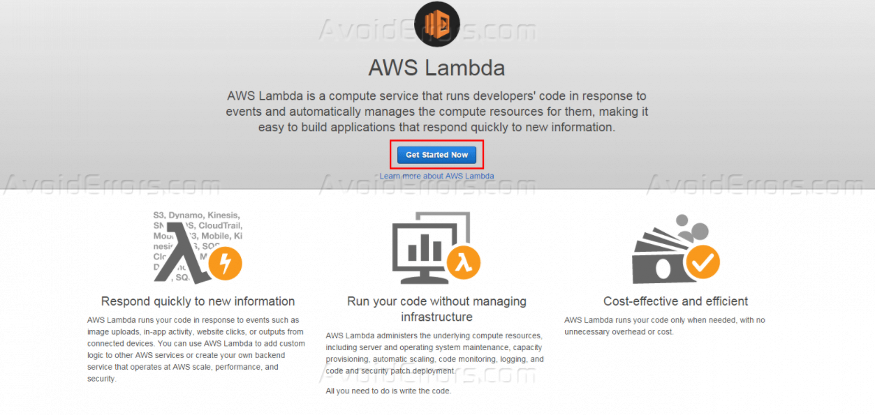 How To Run a Server-less Code On Amazon Web Services - AvoidErrors