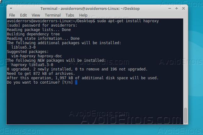 Install and Configure HAProxy Ubuntu 16 04 - AvoidErrors